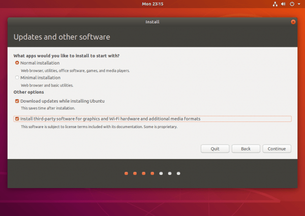ubuntu update and software
