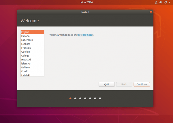 ubuntu welcome