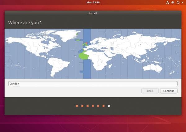 location ubuntu